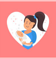 tender hugs of mother and her child vector image vector image