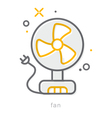 Thin line icons Fan vector image vector image