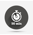 Timer sign icon 50 minutes stopwatch symbol vector image vector image