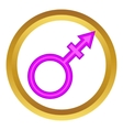 Transgender sign icon vector image vector image