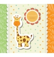 Vintage doodle little giraffe for greeting card vector image vector image