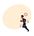 young black african american businessman hurrying vector image vector image