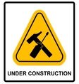 sign area under construction vector image