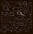 speech hand drawn bubbles set talk clouds vector image