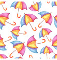 aquarelle seamless pattern with umbrellas vector image vector image