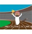 Arabian businessman wins the trophy vector image