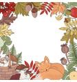 autumn border animal season nature vector image vector image
