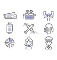 Aviation icons set vector image vector image