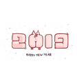 banner in the year of the pig 2019 new year vector image