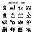 basic industrial icon set vector image vector image