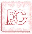 BG monogram vector image vector image