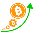 bitcoin inflation trend flat icon vector image vector image