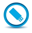Blue flash drive icon vector image vector image
