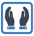 Care Hands Flat Icon vector image vector image