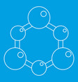chemical and physical molecules icon outline vector image vector image