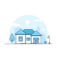 cottage - modern thin line design style vector image