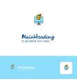 creative find location logo design flat color vector image