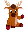 cute baby moose sitting vector image