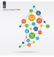 development integrated thin line icons graph vector image vector image