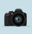 dslr photo camera in flat style vector image