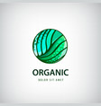 eco organic healthy natural food logo vector image vector image