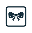 festive bow icon Rounded squares button vector image