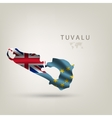 flag tuvalu as a country with a shadow vector image