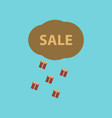 flat icon of sale gift rain vector image vector image