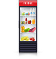 Food In Fridge Realistic Icon vector image vector image