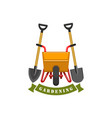 gardening planting work tools icon vector image vector image