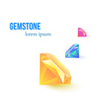 Gemstone isolated on white background vector image vector image