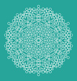 geometrical flower mehendi mandala vector image vector image