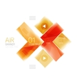 Glass arrow template vector image vector image