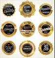 golden premium quality labels vector image vector image