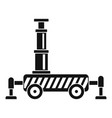 hydraulic crane icon simple style vector image