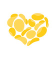 i love potato chips snacks heart isolated i like vector image vector image