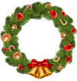 Isolated Christmas wreath vector image vector image