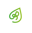 letter r logo design template elements eco vector image