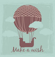 make a wish vintage card template with hot vector image