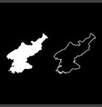 map of north korea icon set white color flat vector image vector image