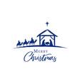 merry christmas jesus in manger vector image vector image
