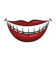 mouth and lips cartoon vector image vector image