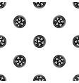 mushroom pizza pattern seamless black vector image vector image