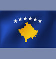 national flag kosovo for sports competition vector image vector image