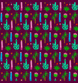 pattern with different cactus vector image vector image
