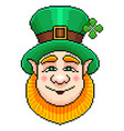 pixel st patrick portrait detailed isolated vector image vector image