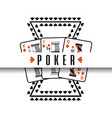 poker poster casino gamble risk cards vector image vector image
