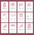 realistic fashion clothing and accessories vector image vector image