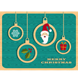 Retro wooden Christmas set vector image vector image
