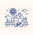 rural house farm outline vector image